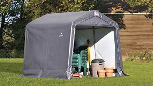 Shed-in-a-Box All Season Metal Storage with Cover Reusable Auger