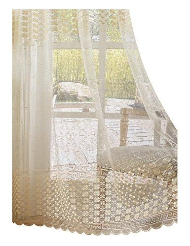 sheer curtains clover embroidered elegance window treatment