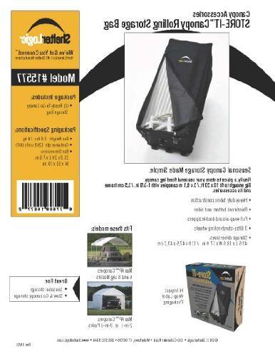 store ittm canopy rolling storage