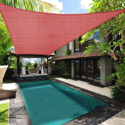 Sun Shade Sail Block Pool Awning Top Outdoor