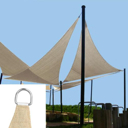 Sun Shade Sail Block Canopy Patio Pool Top Outdoor 9 12 16""