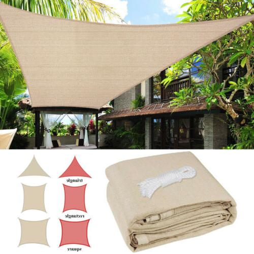 sun shade sail uv block canopy patio