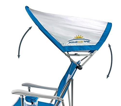 GCI Outdoor Folding Captain's Beach with SPF Canopy