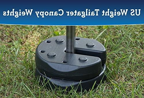 US Tailgater Canopy Weights with No-Pinch to and Umbrellas Outdoor Events