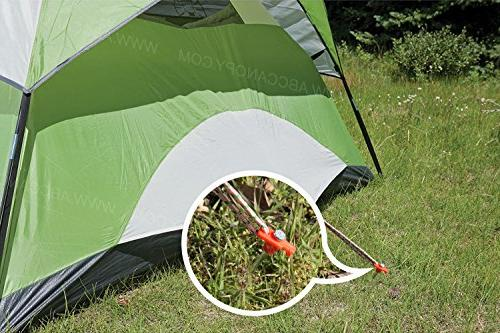 ABCCANOPY Tent Garden Stakes, 10pcs Galvanized Non-Rust 10'' Pop up Pergolas Canopy Accessories Stopper Bonus 4pcs Ropes top