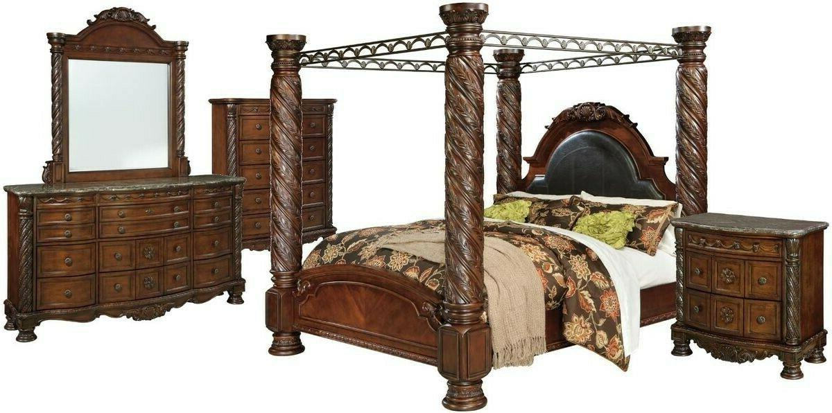 traditional california king size canopy bed hardwood