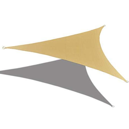Alion Home 165 x 165x 165 Triangle Waterproof Woven Sun Shad