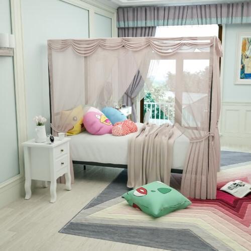 twin size metal canopy bed frame platform