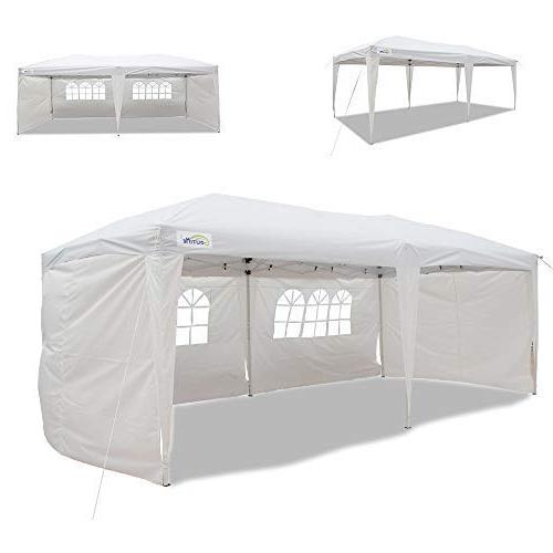 Goutime Uscanopy Easy Pop Up Canopy Party Tent, 10 X 20-Feet