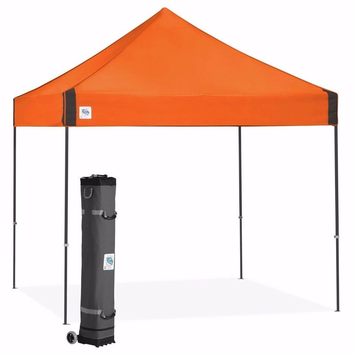 Vantagetm 10 Ft. W x 10 Ft. D Canopy, Steel Orange
