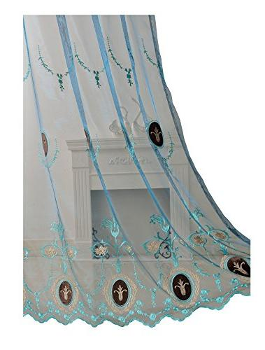 Aside Bside Sheer Curtains Velvet Rod Top Elegant Design -128168150848505C1PGB