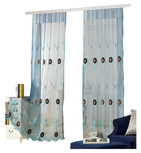 vines embroidered sheer curtains velvet