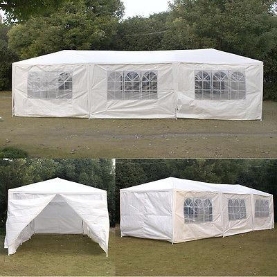 10'x30' Gazebo Party Tent Wedding Outdoor Cater Waterproof