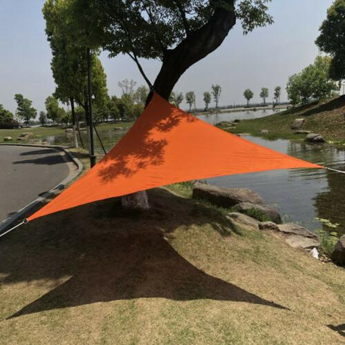 Waterproof Sun Sail UV Patio Outdoor Top Canopy Rectangle/Triangle