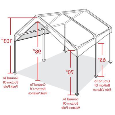 Carport Tent Steel Caravan Shelter 6 leg