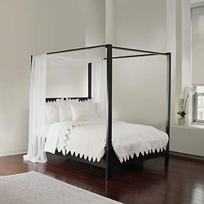Royale Linens White Sheer, Sizes Bed Canopy Scarf,