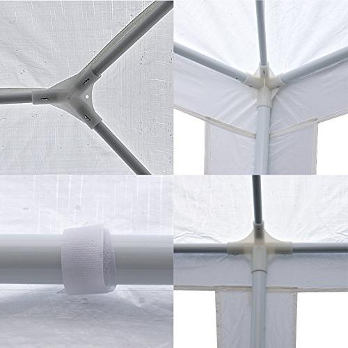Smartxchoices 10' x Outdoor Waterproof Canopy Tent with Removable and Windows Heavy Party Wedding Events BBQ