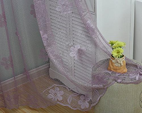Aside Bside Woven Jacquard Design Curtains Rod Pocket Voile