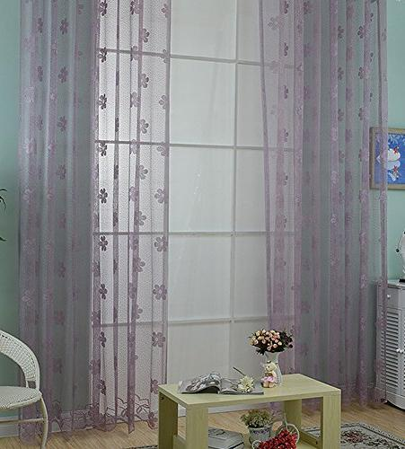 woven jacquard sheer curtains rod