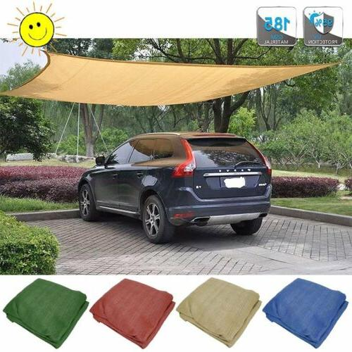 Sun Shade Sail Triangle Rectangle Canopy Awning Shelter Fabr