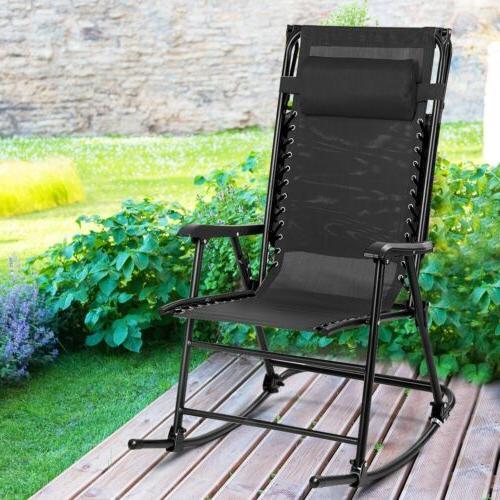 zero gravity folding rocker porch rocking chair