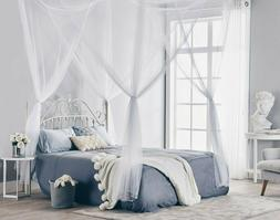 Large 4 Corner Post Bed Canopy Mosquito Net Full Queen King