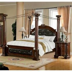 Furniture of America Luxon 2 Piece California King Canopy Be
