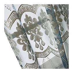 Aside Bside Luxurious Floral Wave Embroidered Rod Pockets Sy