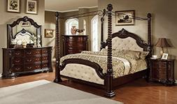 New Luxurious Poster Canopy Eastern King Size Bed Dresser Mi