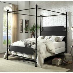 Furniture of America Mallie California King Metal Canopy Bed