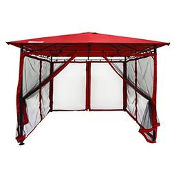 Quictent 10x10 Gazebo with Mosquito Netting Metal Gazebo Scr