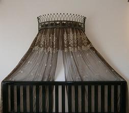 Octorose Metal Wall Teester Bed Canopy Drapery Crown Hardwar
