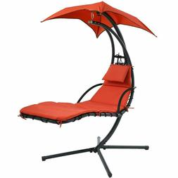 NEW Hanging Chaise Lounger Chair Arc Stand Air Porch Swing H