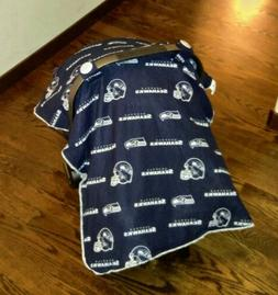 NEW NIP Seattle Seahawks Car Seat Canopy Cover Baby Infant C