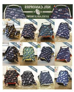 NFL CarSeat Canopy Baby Infant Cover Licensed Football Teams