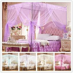 No Frame Lace Canopy Mosquito Net Princess Bedding for Twin