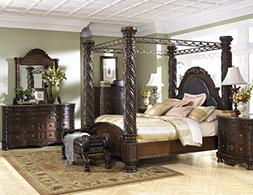 """Ashley Furniture """"North Shore 6 Piece Canopy Bedroom Set in"""