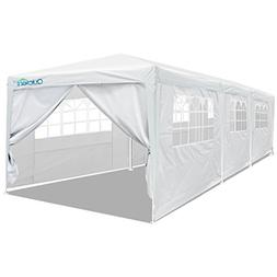 Quictent 10' x 30' Party Tent Gazebo Wedding Canopy BBQ Shel