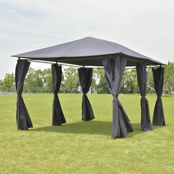 Outdoor 10'x13' Gazebo Canopy Tent Shelter Awning Steel Fram