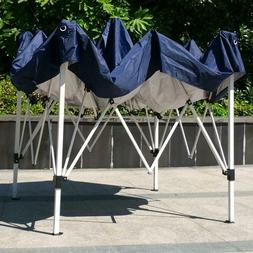 Outdoor Folding Canopy Tent Blue Waterproof Instant Shade Po