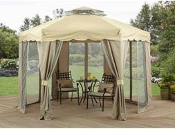 Outdoor Gazebo With Netting Canopy 12x12 Tent Pergola Patio