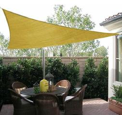 Outsunny Triangle Outdoor Patio Sun Shade Sail Canopy 16.5ft