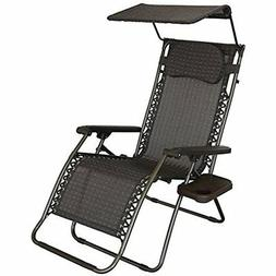 Oversized Recliner Zero Gravity Chair With Sunshade And Drin