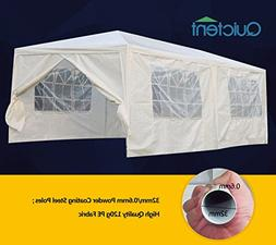 Quictent 10' X 20' Party Wedding Tent Gazebo Canopy with 6 R