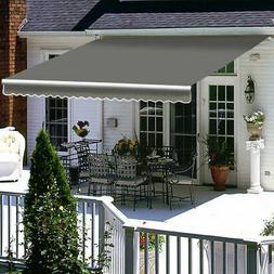 Patio Awning Canopy Manual Retractable Deck Door Outdoor Sun