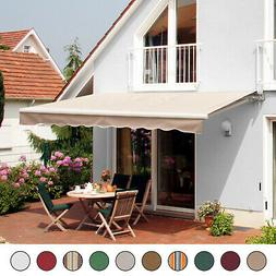 Patio Awning Canopy Retractable Deck Door Outdoor Sun Shade