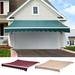 Patio Manual Retractable Deck Awning Sun Shade Shelter Canop