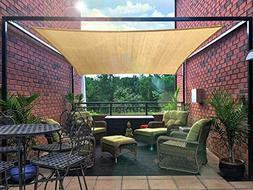 diig Patio Sun Shade Sail Canopy, 12' x 16' Rectangle Shade