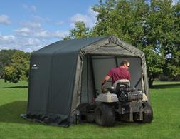 ShelterLogic 8x8x8 Peak Style Shelter, Green Cover