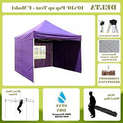 DELTA Canopies -10'x10' Pop up Outdoor Instant Folding Weddi